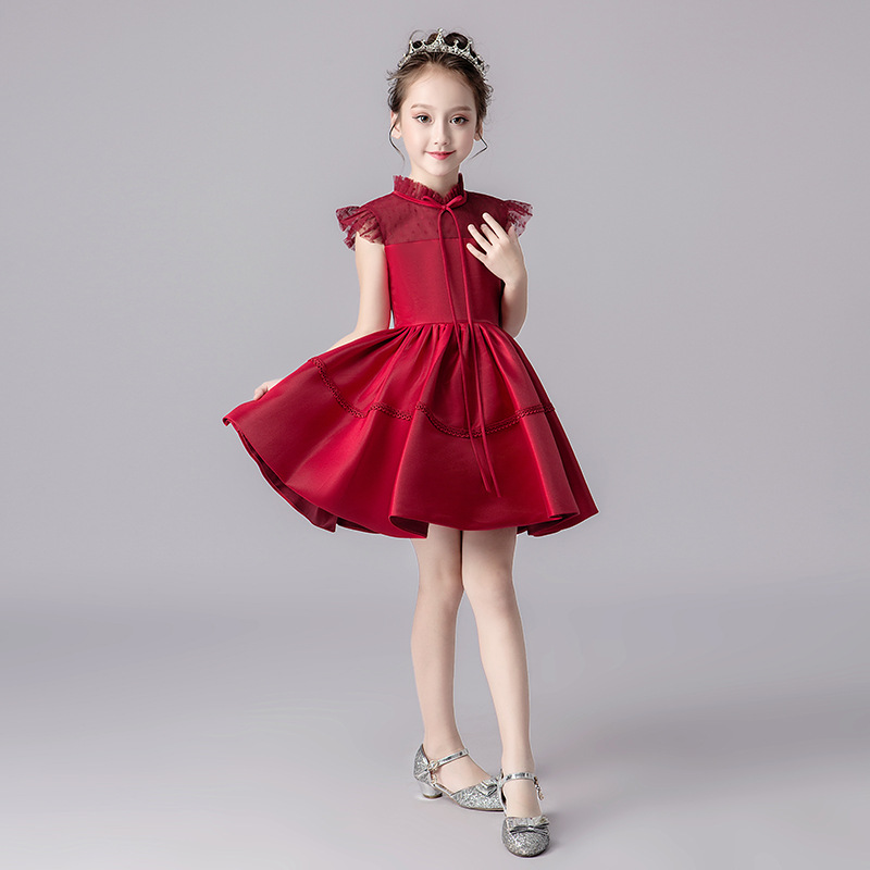 CHILDREN'S Dress Princess Dress Wedding Dress Puffy Yarn Flower Boys/Flower Girls Little Girl Host Late Formal Dress Girls Piano