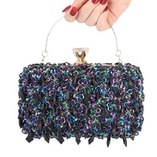 купить bags for women 2019 New style clutch dinner bag handmade double-sided pearl evening bag lady with sequined chain cross body bag по цене 1606.24 рублей