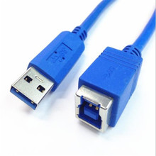 USB 3.0 B Female USB 3.0 cable USB 3.0 A male to B female data cable 30cm used in the hard disk box printer scanner, etc.; недорого