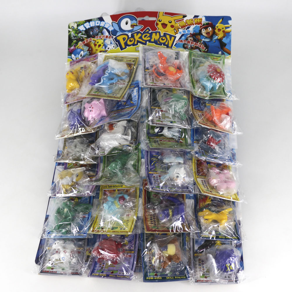TAKARA TOMY Pokemon Dolls With Cards Collection Toys For Kids Battle Trading Figure Card Game Gold Cards Action Figures