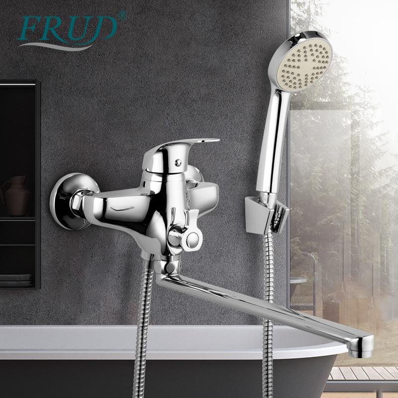 FRUD Bathroom Bathtub Faucet Shower set Outlet Pipe Cold and Hot Mixer Bath Faucets mixer faucet shower water mixer bath tap