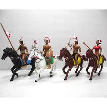 4 sacos/lote indiano oeste selvagem cowboy país vida menino vaca com cavalo árvore pvc anime figura decoração de natal modelo brinquedo