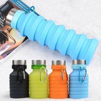 Himiss 550 ml dobrável silicone esportes copo com gancho de suspensão para uso ao ar livre esportes copo|null|   -