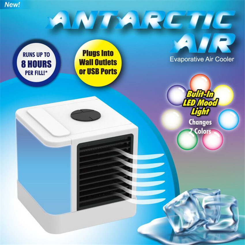 Mini USB Personal Air Cooler Portable Humidifier 7 Color Type Purifier Household Table Fan Evaporative Conditioner for Office