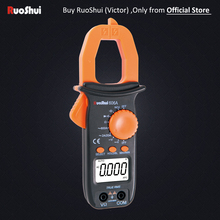 606A Victor RuoShui Digital Clamp Meter AC Clamp Multimeter 2000 Counts True RMS Resistance Capacitance 1000uF цена