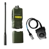עבור baofeng Case רדיו Dummy האריס PRC-152 PRC 152, צבאי דגם Talkie Walkie-עבור Baofeng רדיו, אין פונקציה + עם תקע Peltor 6 פין PTT (1)