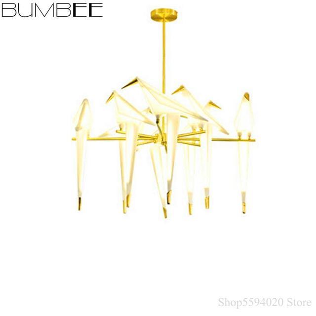 Lustre Led moderne oiseau pendentif LED lumières chambre salon suspension lampe pendentif éclairage décor maison Luminaire Suspendu