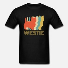 Hommes t-shirt Westie West Highland Terrier chien race Vintage t-shirts femmes t-shirt(China)