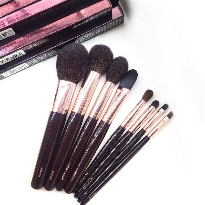 Полный набор кисточек для макияжа-8 шт. бронзер, румяна, пудра и тональная основа, блендер для глаз, подводка для размазывания, косметические ...