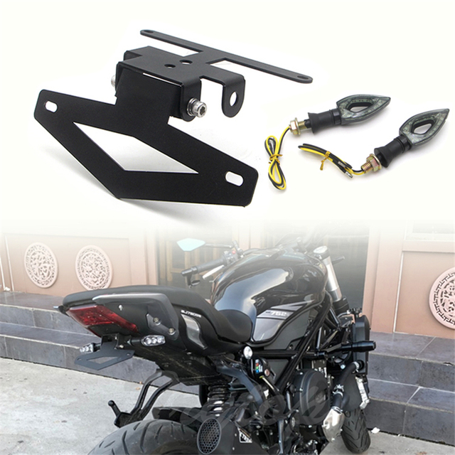 Motorcycle Rear License Registration Plate Tail Frame Holder Bracket Folding Short Tail Modified for Benelli 502C 752S