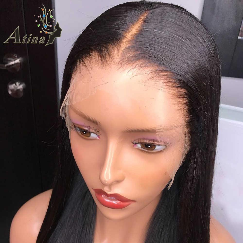 13X6 HD Spitze Vorne Menschenhaar Perücke Gerade Unsichtbare Stirnband Perücke Volle Spitze Perücken Atina Nicht Nachweisbar Frontal Remy 4x4 verschluss 150