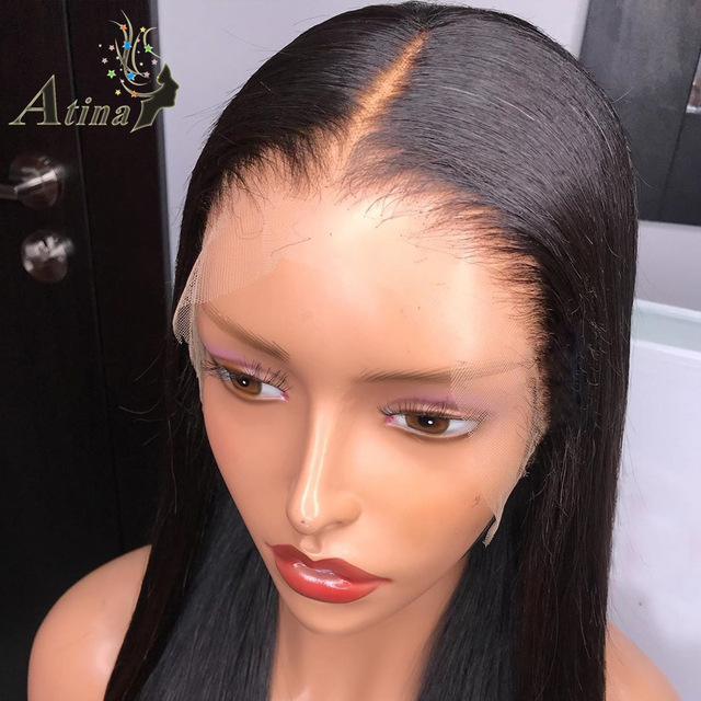 13X6 hd Lace Front Peluca de pelo humano recta Invisible pelucas de encaje completo Atina indetectable Frontal Remy PU Base de seda 150