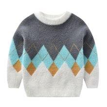 Корейская детская зимняя одежда свитер для маленьких мальчиков
