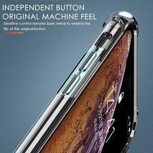 Image 4 - Di Lusso Antiurto Cassa Del Telefono Del Silicone per Iphone 7 8 6 6S Plus X Xs Max Iphone 11 Pro Max Custodie trasparente di Protezione Posteriore Cove