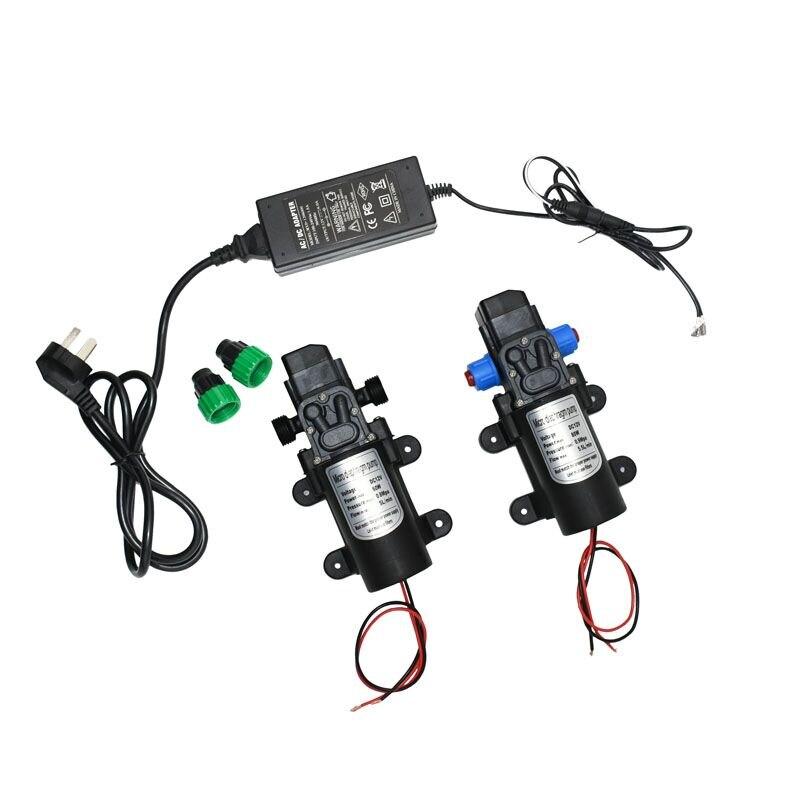 12 Volt Hoge Druk Waterpomp 60 W 80 W Micro Wasstraat Tuin Irrigatie Druk Zelfaanzuigende Booster pomp 12 Volt Adapter