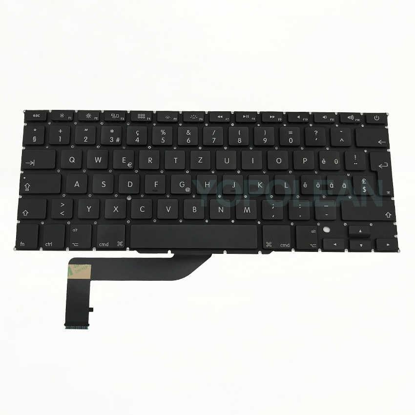 Nowa szwajcarska klawiatura A1398 dla MacBook Pro Retina 15 Cal układ 2012-2015 lat