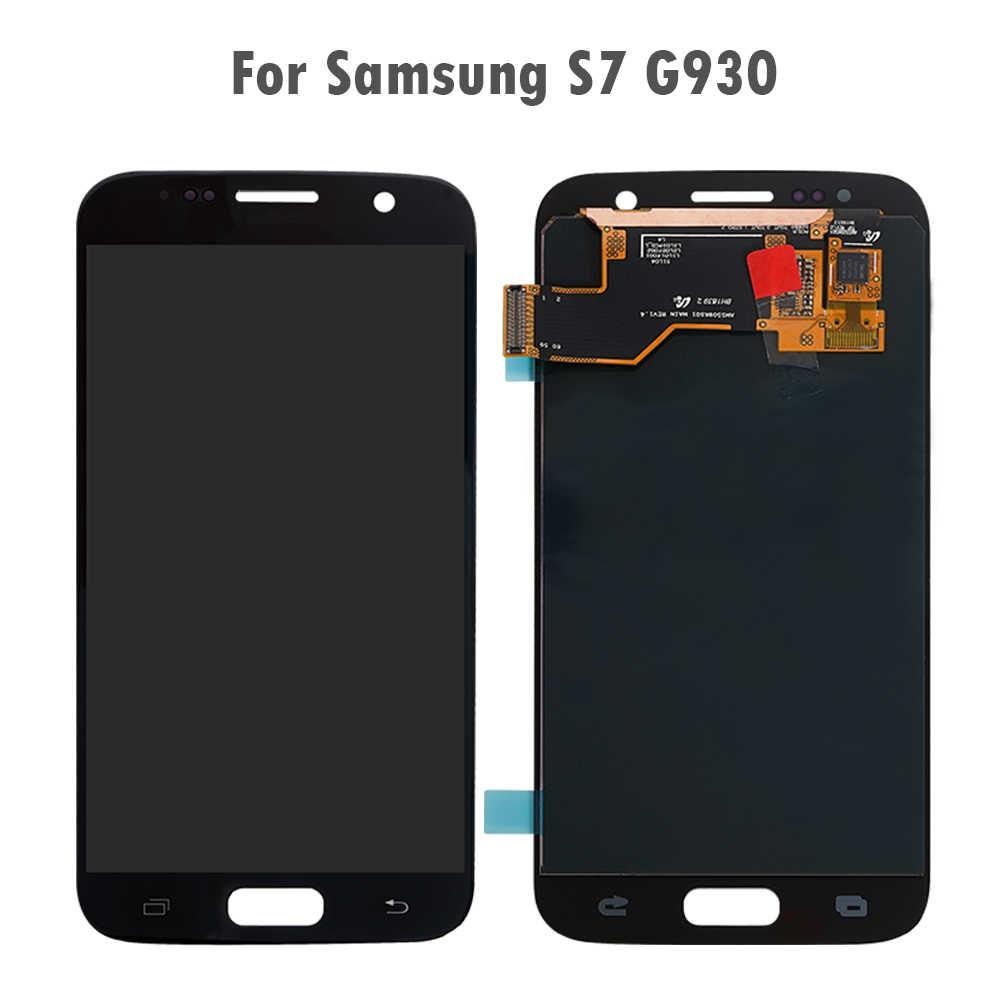 Super Amoled Voor Samsung Galaxy S7 S6 S5 S4 S3 S2 S1 Lcd Touch Screen Digitizer Voor Samsung S6 s5 S4 S3 S7 S2 S Screen