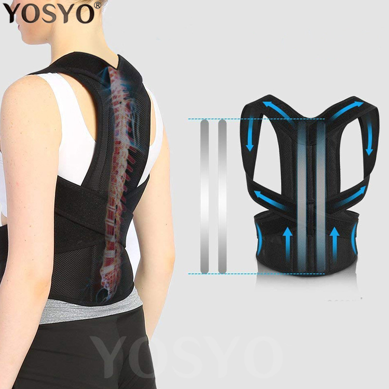 Posture-Corrector Brace Back-Trainer Support-Stop-Slouching Clavicle Adjustable Hunching title=