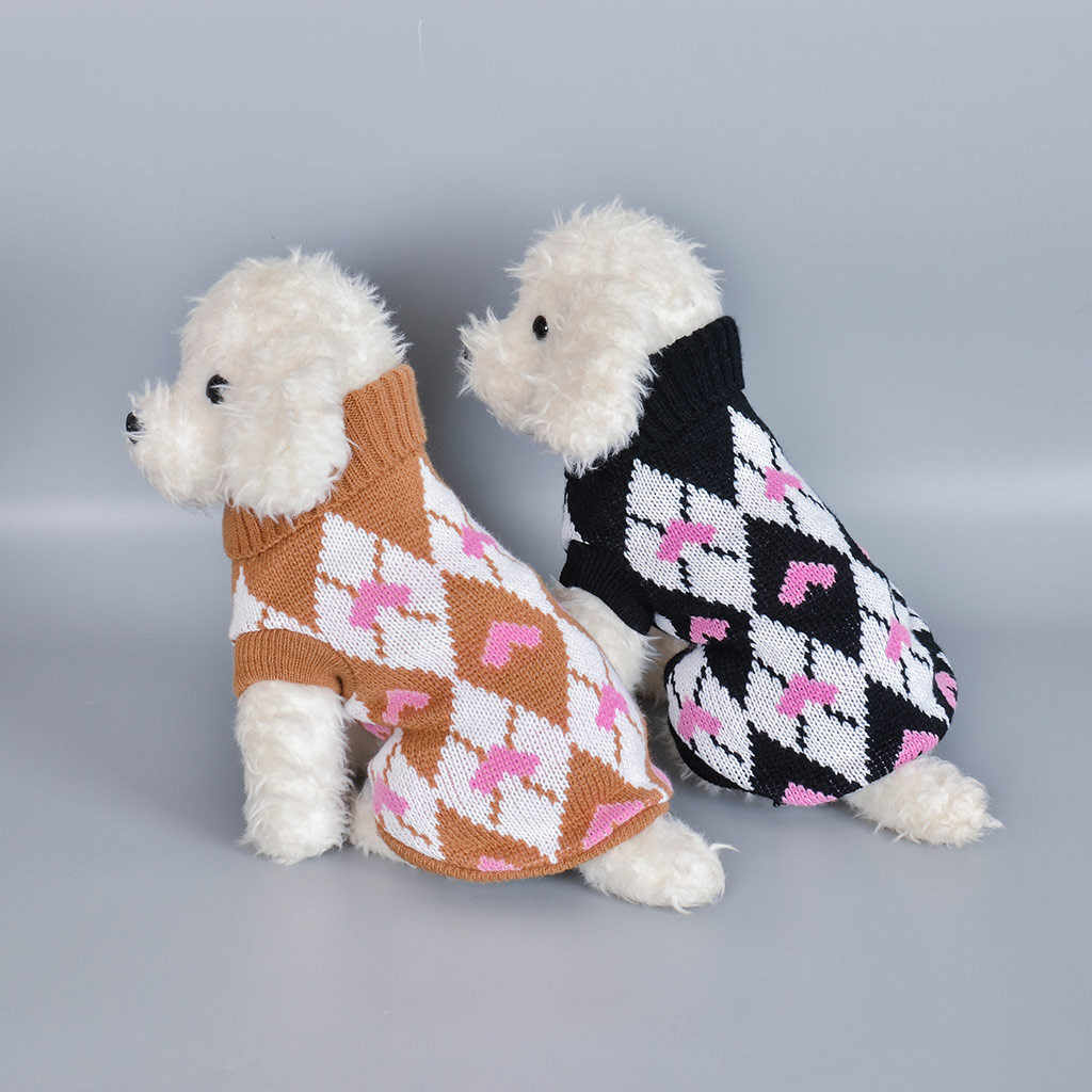 Pet Dog Cat Winter Warm Turtleneck Sweater Coat Costume Apparel christmas clothes for dogs with reindeer roupa pra cachorro