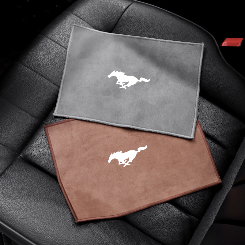 1PCS Car Chamois Leather Absorb Car Washing Wipe Towel Clean Cloth For Mustang 2015 2017 2018