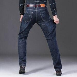Image 4 - Jantour 2019 novos homens calças de brim quentes de alta qualidade famosa marca inverno quente reunindo velo macio masculino 35 40 tamanho