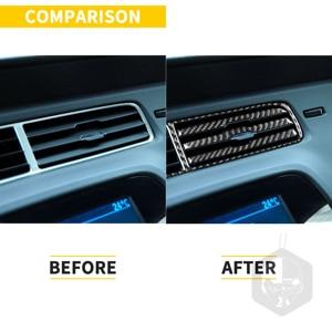 Image 2 - Voor Chevrolet Camaro 2010 2011 ZL1 Koolstofvezel Accessoires Auto Center Dash Airconditioning Vent Outlet Trim Interieur Sticker