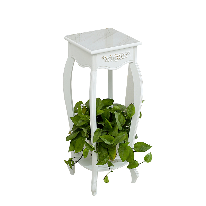 Solid Wood Flower Rack Balcony Decorate To Ground Flowerpot Pylons Green Luo Flower Airs Indoor Living Room Shelf