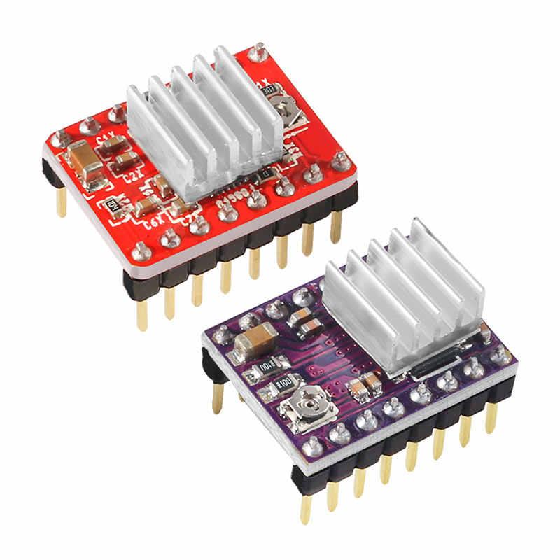 Controlador de Motor paso a paso A4988 DRV8825 con piezas de impresora 3D disipador de calor StepStick Carrier Reprap rampas 1,4 1,5 1,6 MKS GEN V1.4 tablero