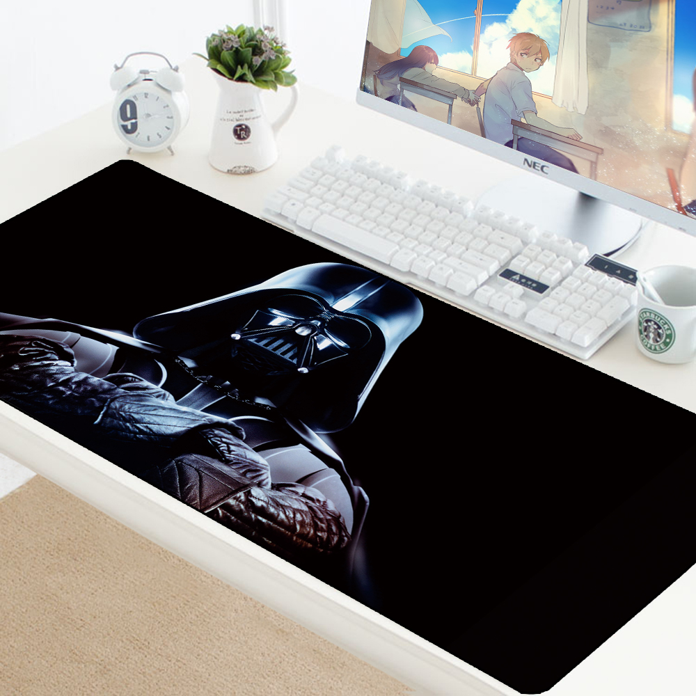 Star Wars 70x30CM Large Gaming Keyboard Mouse Pad Computer Game Tablet Desk Mousepad with Edge Locking XL Office Play Mouse Mats image