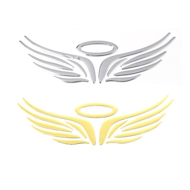 3D Angel Hawk Wings Car Auto Pair Chrome Metal Emblem Sticker Decor Decal Logo