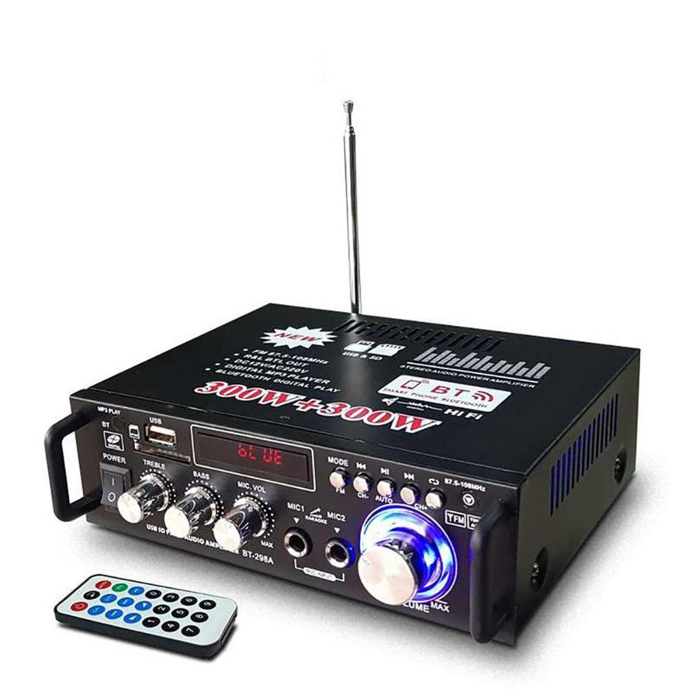 600W Digital HIFI bluetooth Stereo Audio Amplifier SD FM Mic Car Home Durable