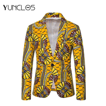 2019 New Design Yellow Flower Men Blazer Party Jackets For Folk-custom Slim Fit Casual Tuxedos 5 Size M-3XL