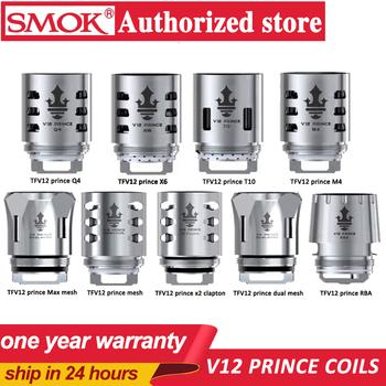 SMOK-oryginalne cewki do e-papierosa TFV12 Prince wymienna grzałka RBA Q4 M4 X6 T10 podwójna siatka do wapowania zbiornik do papierosów elektronicznych tanie i dobre opinie CN (pochodzenie) TFV12 Prince Coil TFV12 prince atomizer Mag kit 0 4ohm 0 15ohm 0 12ohm 0 17ohm Strong Power Huge vapor production