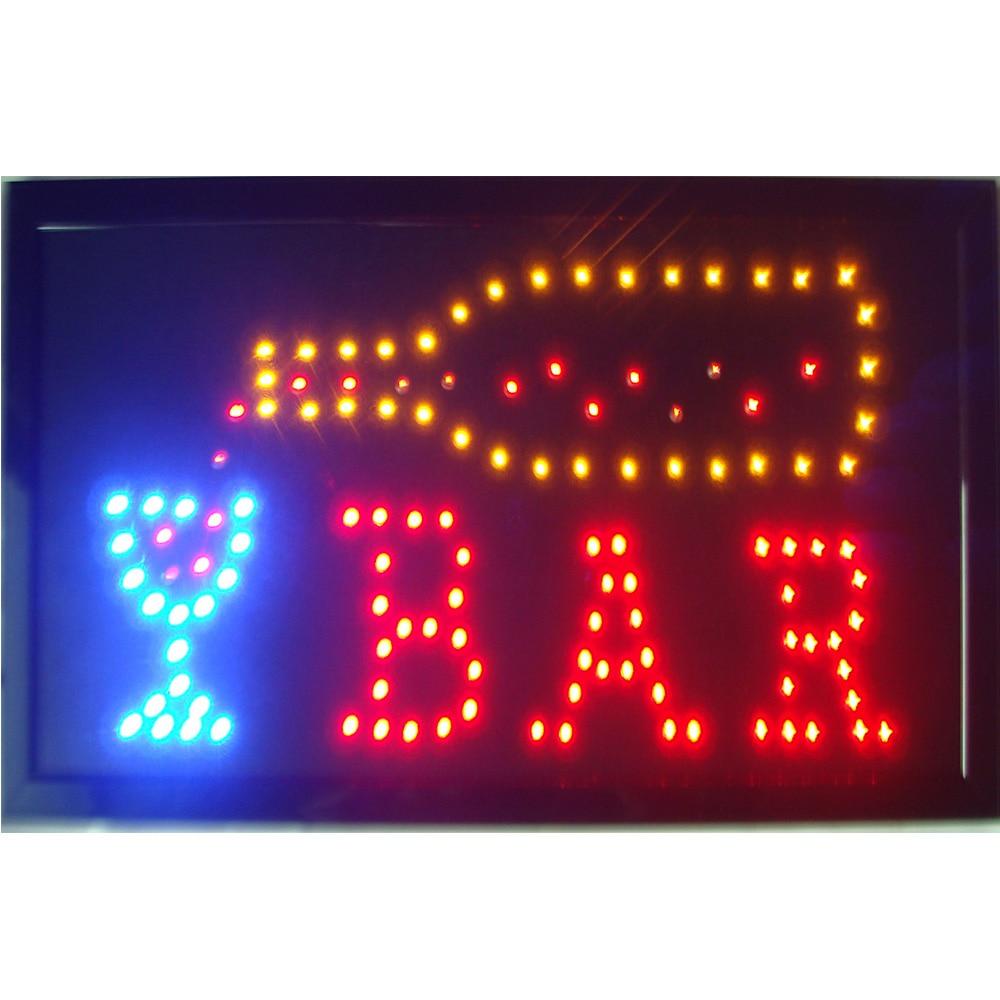 LED Bar Pub Open Sign for Business