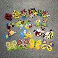 Нетканые животные XICC, божья коровка, пчела, стильные бабочки, войлочные наклейки «сделай сам» для детского сада, украшения для начальной шко...