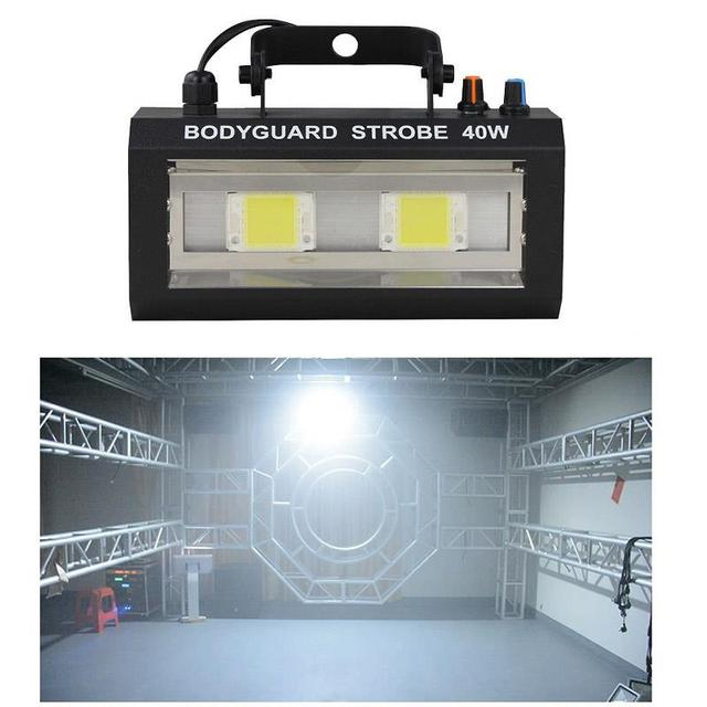 LED Bodyguard Strobe แสงคริสต์มาสโปรเจคเตอร์ Stroboscopes โคมไฟ Soundcontrol เวที Dj ดิสโก้ไฟ Led Strobe