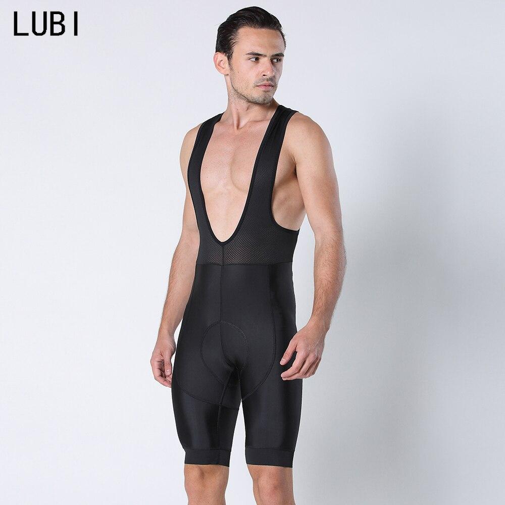 Lubi Mannen Zomer Hele Zwarte Pro Fietsen Broek Gel Pad Shockproof Mtb Race Broek Racefiets Shorts Spons Pad fiets Panty