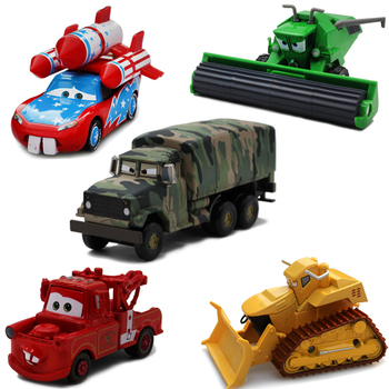 New Original Disney Car Story Flank Rhapsody PVC Car Model 1:43 Bulldozer Diecast Vehicle Metal Alloy Boy Toy Birthday Gift image