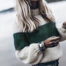 Женские винтажные пуловеры свитера осенне зимняя одежда вязаный