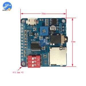 Image 2 - MP3プレーヤーモジュールミニクリップ5ワットMP3プレーヤー音楽スピーカーオーディオサウンドプレイヤーmp3ボードシリアルポート制御ioモジュールをトリガ