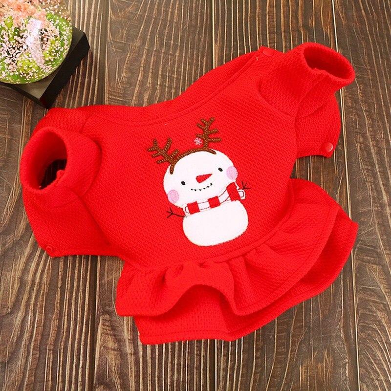Pet Warm Clothes Dog Girl Costume Princess Dress 2 legged Cute Apparel Christmas Outfit