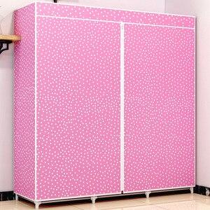 Image 5 - Armoire en tissu COSTWAY pour vêtements tissu pliant Portable placard armoire de rangement chambre meubles de maison armario ropero muebles