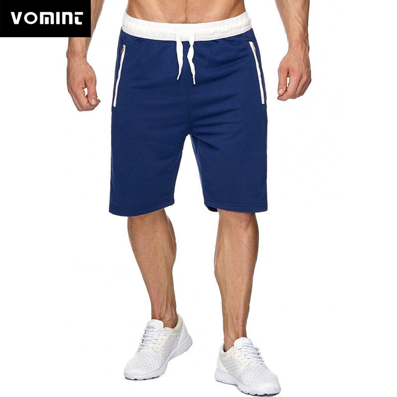 VOMINT Summer Fashion Brand Men Gyms Shorts Fitness Bodybuilding Short Pants Beach Shorts Elastic Waist Shorts