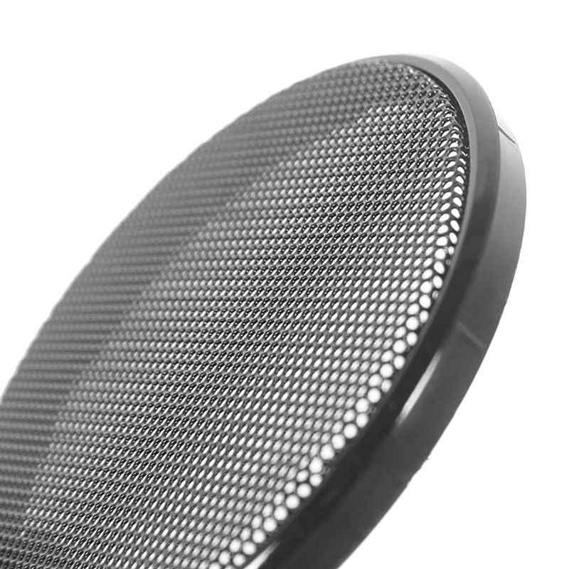1/2/3/4/5/6 inç siyah araba hoparlör ızgarası örgü yuvarlak boynuz koruyucu kapak daire muhafaza Net DIY dekoratif aksesuarları 634A