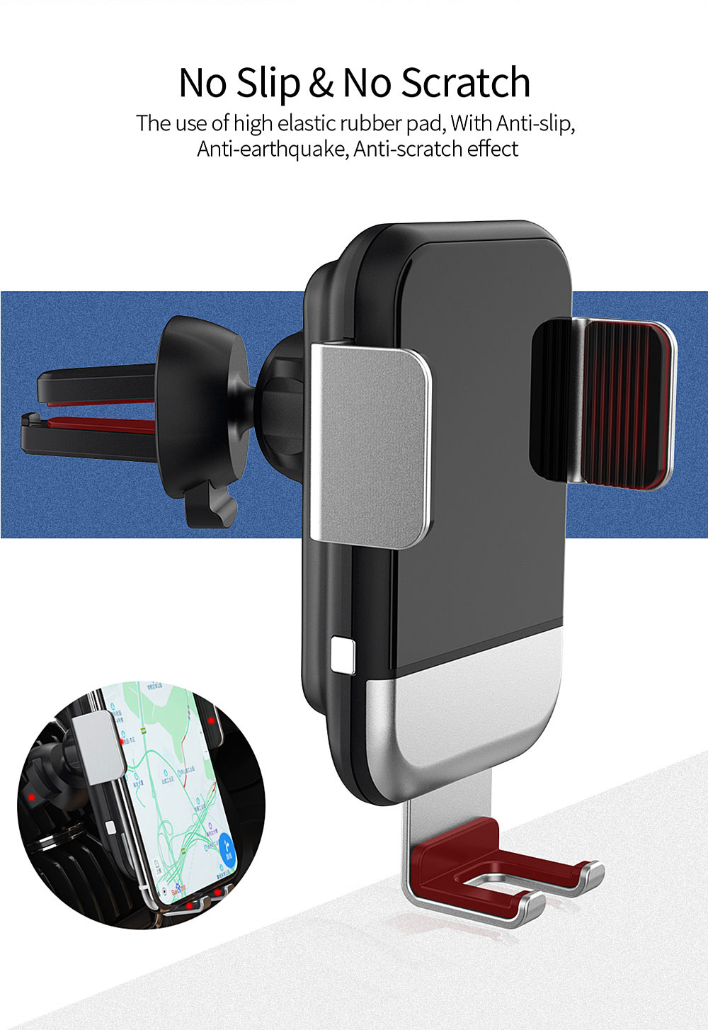 Essager Wireless-Charger Mount-Phone-Holder Xiaomi Samsung IPhone X Mi-9 Qi Car For Automatic-Clamping