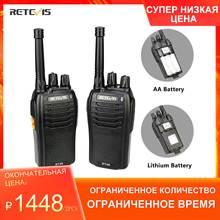 한 쌍의 RETEVIS RT46 워키 토키 PMR 라디오 PMR446/FRS 휴대용 양방향 라디오 복스 마이크로 USB 충전 리튬 이온 (또는 AA) 배터리