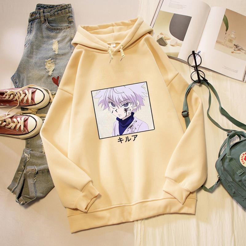 Harajuku Hooded Sweats Long Sleeve Autumn Winter Warm Women's Clothing HunterXHunter Oversized Hoodies Women Sweatshirts Casual