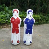 160CM PVC Adult Inflatable Football Training Goal Keeper Tumbler Air Soccer Training Dummy Tool Inflatable Tumbler Wall