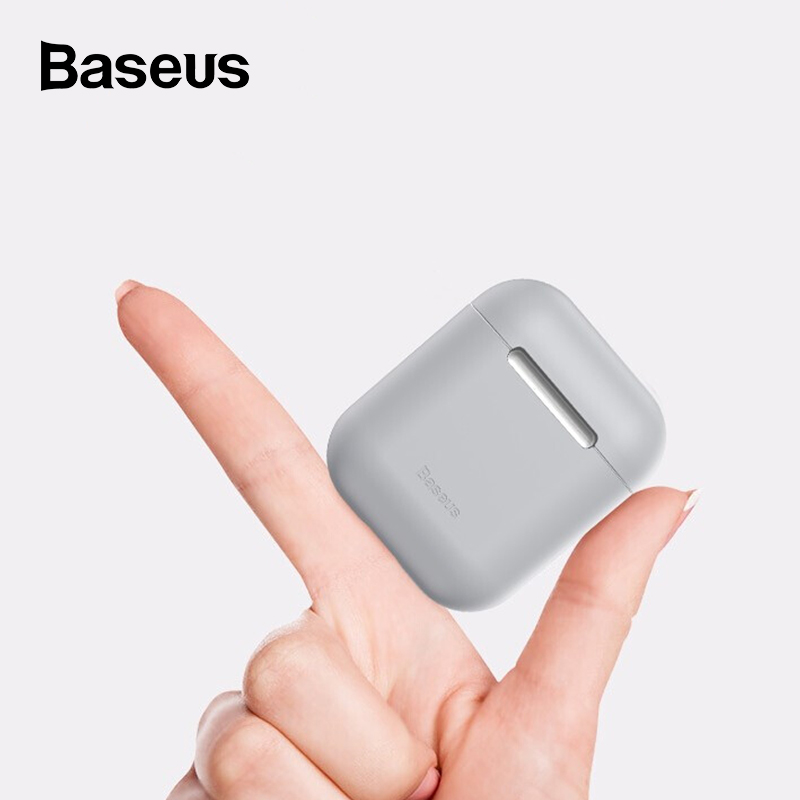 <font><b>Baseus</b></font> Soft Silicone Case for Airpods 1 2 Protective Cover for Airpods Wireless Bluetooth Earphones Case for Apple Aipods Case image