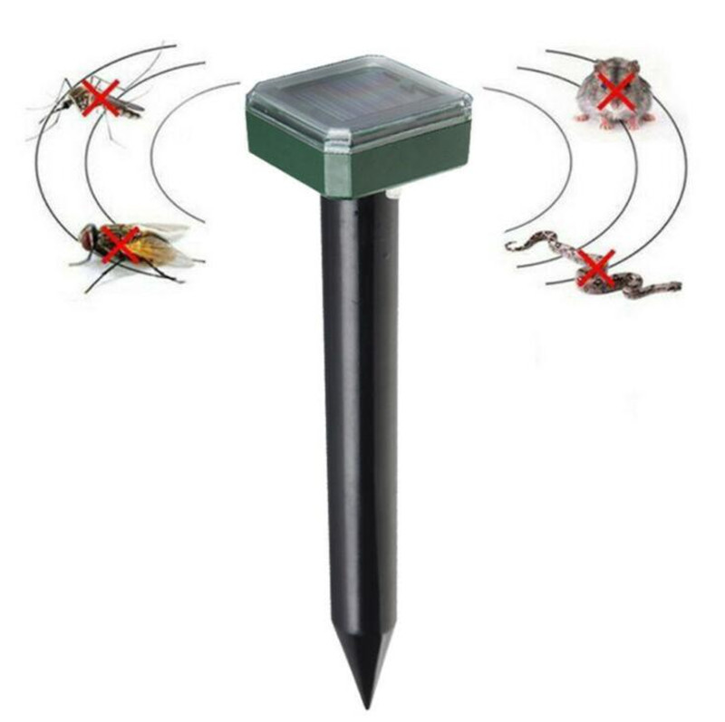 Outdoor Garden Mole Repellent Solar Power Ultrasonic Mole Snake Bird Mosquito Mouse Ultrasonic Pest Repeller Control Garden Yard